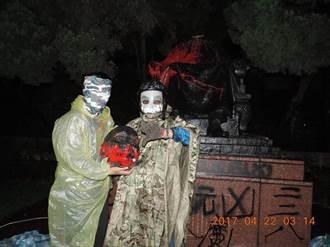 陽明山蔣介石銅像遭砍頭 白盟:光戴面具這點 台獨就輸了!