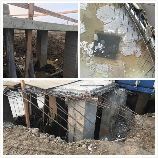 清水農地不合法大面積開挖,灌漿、施作鋼筋混凝土,嚴重破壞生態 。