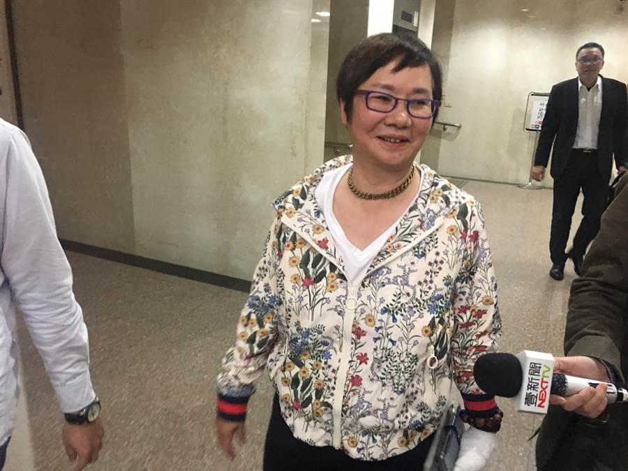 前國民黨立委羅淑蕾今日在律師陪同下現身台北地檢署。(蕭博文攝)