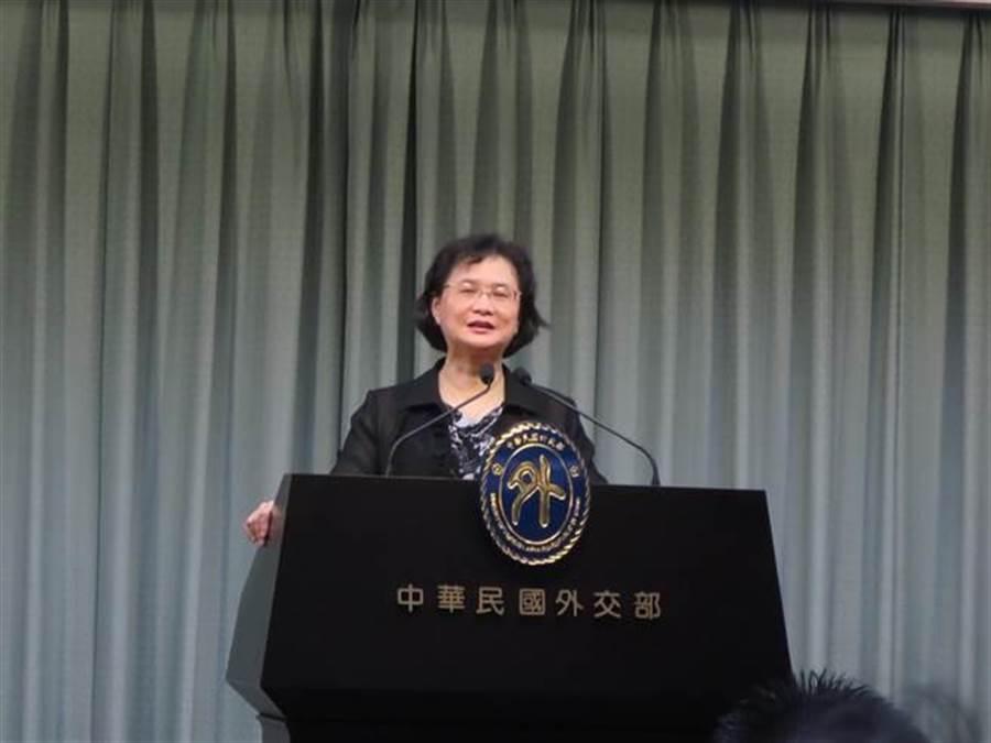 外交部發言人王珮玲。(資料照片,張郁琦攝)