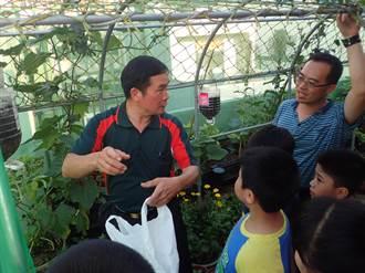 吉安市民活動中心綠屋頂 孩童水泥叢林中的小農夢