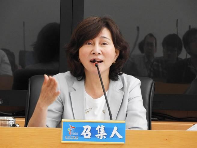 台中市議會「作廢BRT調查小組」,今天召開第一次會議由召集人黃馨慧主持!(陳世宗攝)