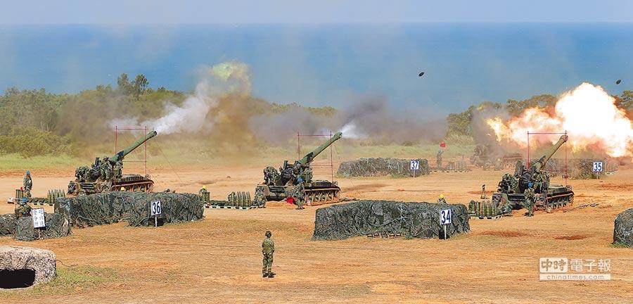 漢光31號演習在新竹實施反舟波實彈射擊演練。(本報系資料照片)