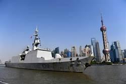 糗了!法國拉法葉巡防艦訪上海 竟一身是「鏽」