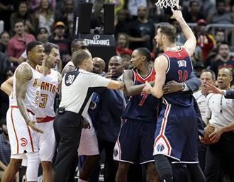 NBA》沃爾猛轟42分 巫師滅鷹挺進次輪
