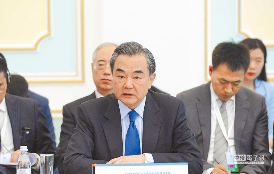 大陸外交部長王毅(前)。(新華社)