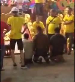 廟會前打架 3男向神明下跪懺悔