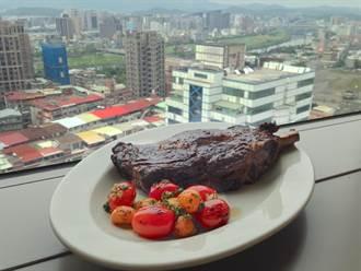 松山amba燒烤 比臉大的35盎司牛排優惠中