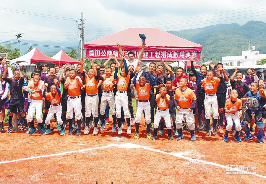 豐田棒壘球場3日啟用,培育更多台東運動人才。(莊哲權攝)