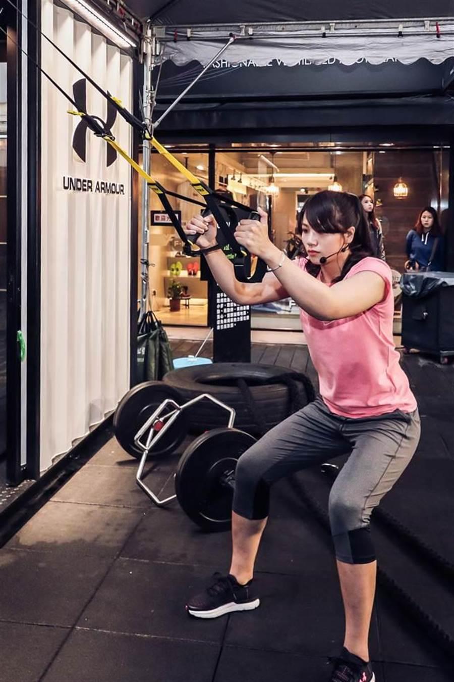 角力女將陳玟陵去年踏上奧運殿堂,因肩膀脫臼而失格,如今肩傷痊癒大半,將在全大運正式復出。(UNDER ARMOUR提供)
