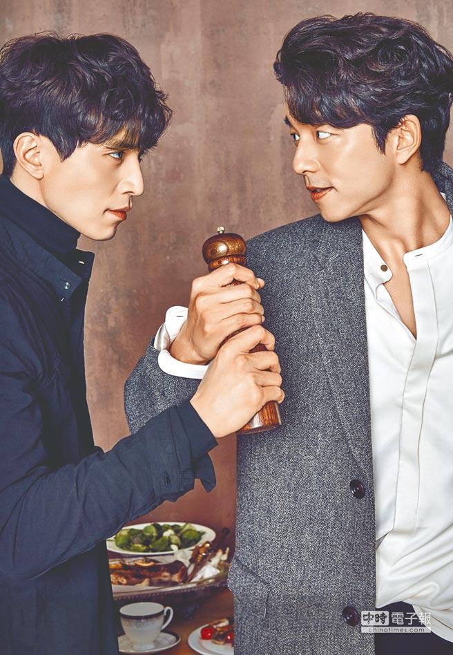孔劉(右)與李棟旭主演的《孤單又燦爛的神—鬼怪》已在台播映。(本報系資料照片)