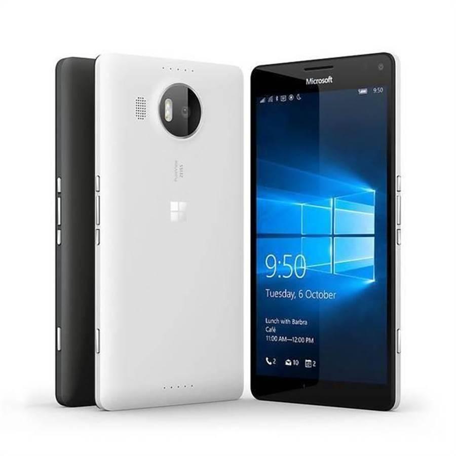 鎖定商用市場,微軟去年推出搭載Windows 10 Mobile系統的Lumia 950。(圖/微軟提供)
