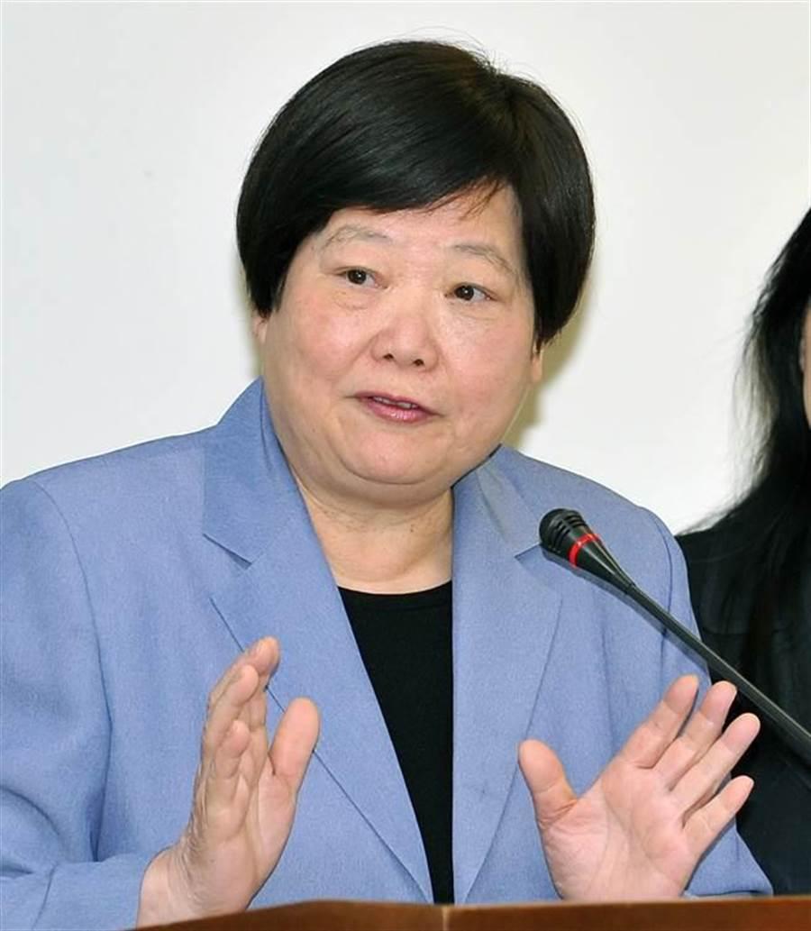 勞動部長林美珠(見圖)8日答詢表示,相關態樣確實是一種歧視,同意可以討論。(劉宗龍攝)