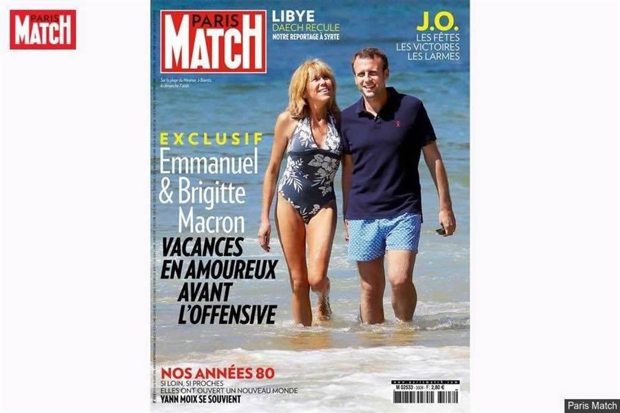 馬克宏夫婦樂於接受專訪,經常登上雜誌封面,他們雖然年齡懸殊,但決心不要讓彼此的關係成為街談巷議的醜聞。(圖/托涅臉書)