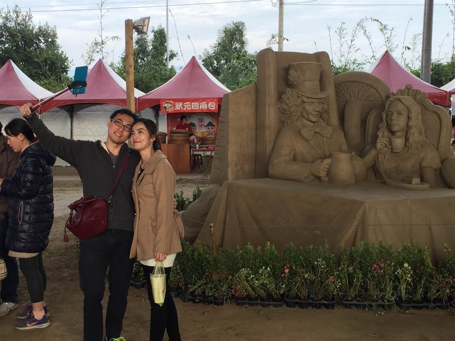 南投國際沙雕文化園區,是聯袂出遊的好去處!(廖志晃攝)
