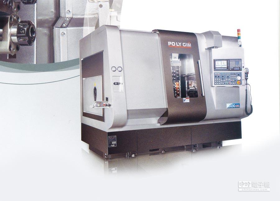 富格蘭走刀式CNC自動車床配備各種刀座以滿足全方位加工需求,更具雙主軸,讓複製工件都可一次加工完成,另雙Y軸搭配360°旋轉之B軸,任何角度都可鑽孔、攻牙、銑削。圖/承誼提供 文/周榮發