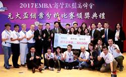 台科大EMBA個案分析賽奪冠 10萬獎金全捐公益