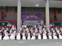 統一企業攜手20家企業 促成66對銀髮佳偶穿婚紗走紅毯