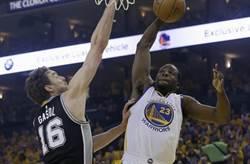 NBA》追回25分 勇士大逆轉勝馬刺