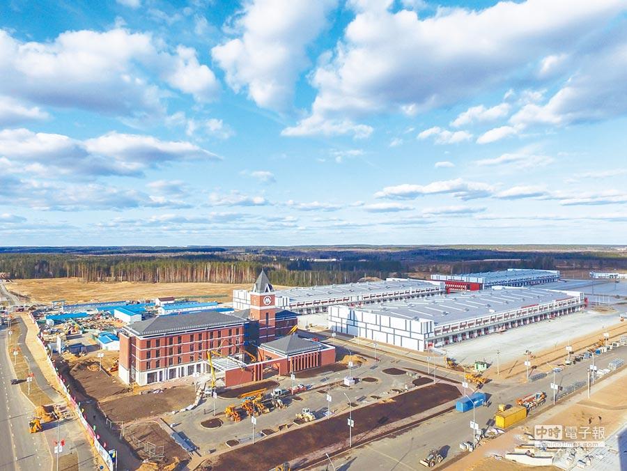 陸企在白俄羅斯建設的工業園。(新華社)