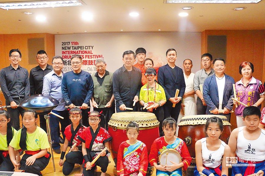 邁入第11年的「新北市國際鼓藝節」將於5月21日登場,今年與「第9屆台灣國際打擊樂節」合作。(池雅蓉攝)