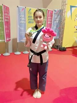 中州科大跆拳女將楊佩蓉 連2年全大運摘金