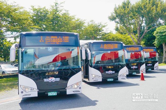 太魯閣客運以綠能電動巴士搶攻花蓮大眾運輸市場。(本報資料照片)