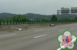 國3中埔路段 發生機車自撞事故