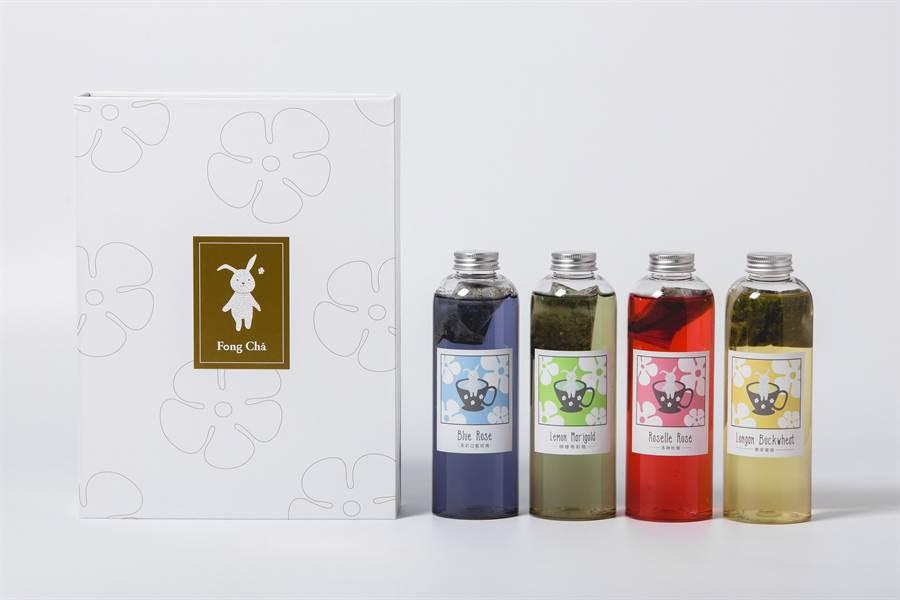Fong Cha豐茶請到吳淡如設計包裝推出4款新口味精品花茶,並在麗晶精品成立形象店。(圖/Fong Cha豐茶)