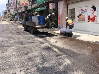 台中南屯路二段路面不平整 建設局要求重舖
