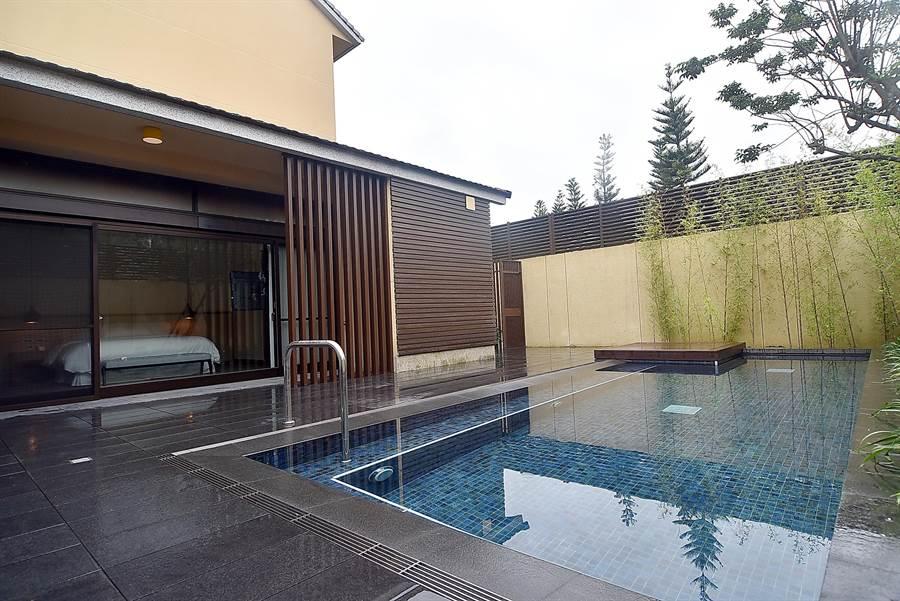〈宜蘭力麗威斯汀〉有6間附有私人泳池的獨幢式Villa,是宜蘭首家有Villa的高檔度假酒店。(圖/姚 舜攝)