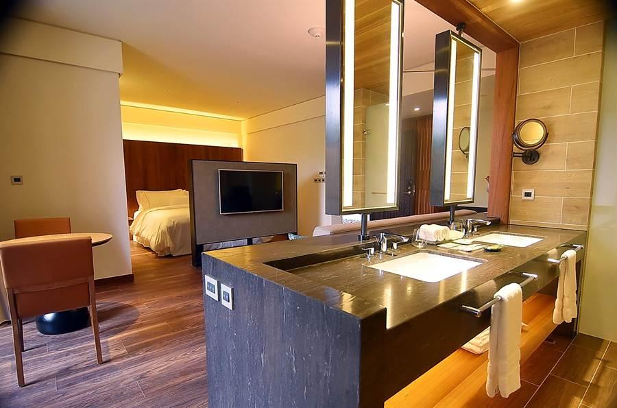 〈宜蘭力麗威斯汀〉酒店房型多樣,可滿足不同旅人住宿需求。(圖/姚舜攝)