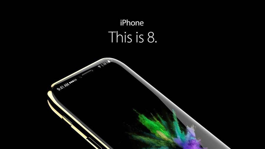 iPhone 8的A11晶片試產不順,延後上市的傳聞恐成真。圖為iPhone概念圖。(翻攝CNET)