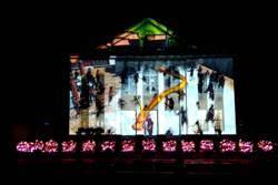 鹿港公會堂光雕秀登場 燈光幻化400年人文風華