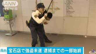 日本警匪追逐戰 超慢動作還「激情相擁」