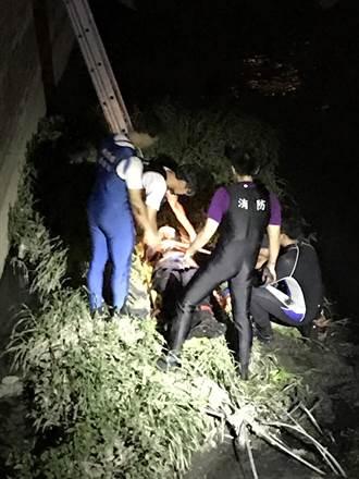 警獲報男呆坐橋墩 到場已墜15公尺深
