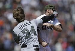 MLB》記仇記2年多?巨人投手狠砸哈波挨鐵拳