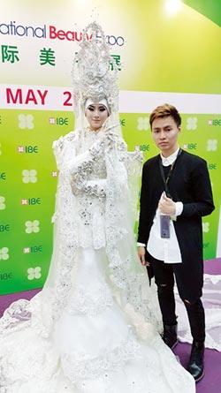 台南應用科大美容系學生 馬來西亞彩妝競賽奪銀