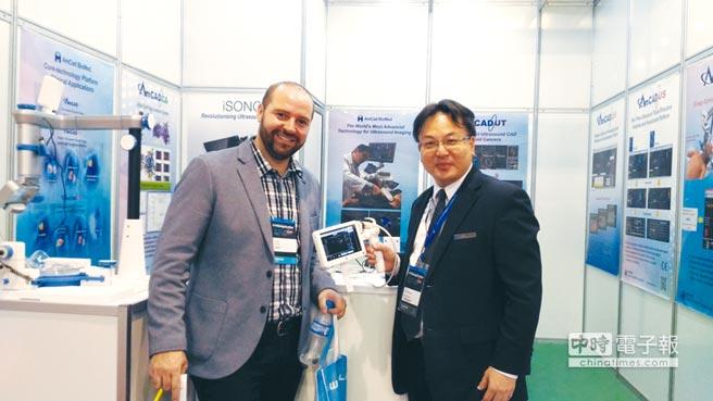 安克生醫的智慧型功能性超音波,於葡萄牙等國際大展中展出。圖/業者提供
