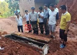 村民修路挖出千年古墓 屍體「還能看到鬍子」