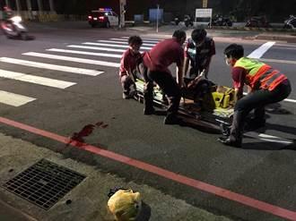 海大外圍北寧路車禍 騎士撞2行人