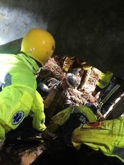 土石滑落65歲男遭掩埋 僅剩頭顱露出