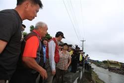 朱立倫前往北海岸勘災 指示加速災區復原