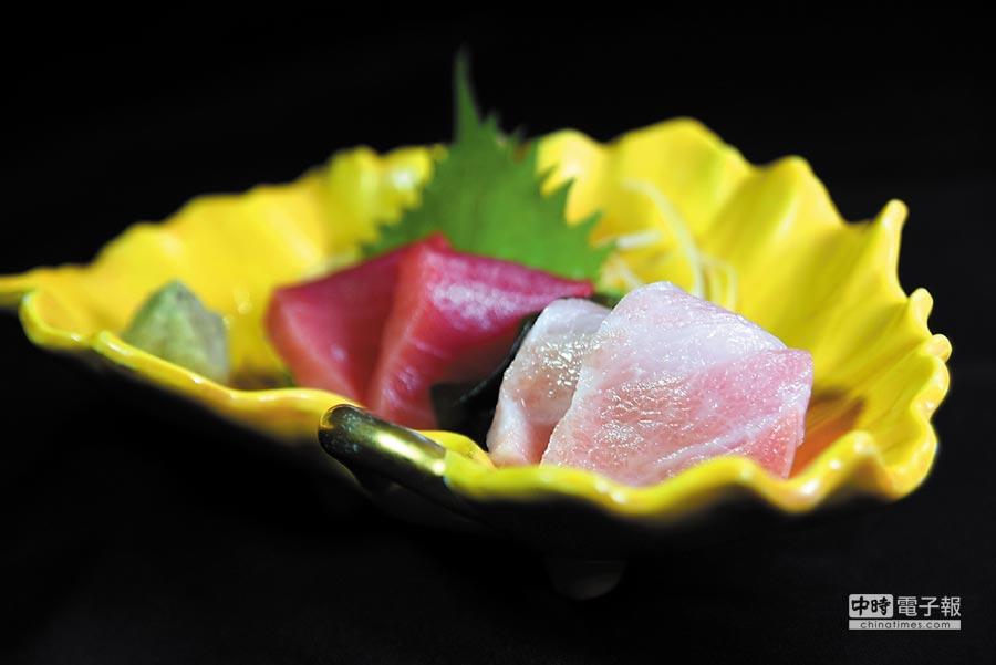 日本野生黑鮪的大腹肉,油花細緻、顏色粉嫩,入口欲化且香甜。圖/姚舜
