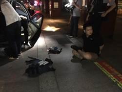 追逐飛車8公里撞爛4車 終被警方壓制逮捕
