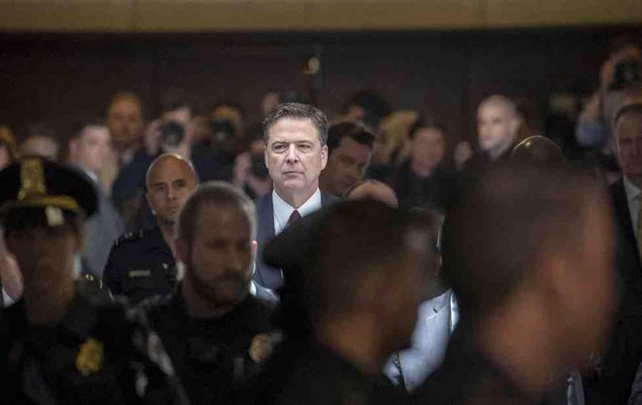 前FBI局長柯米。(美聯社)