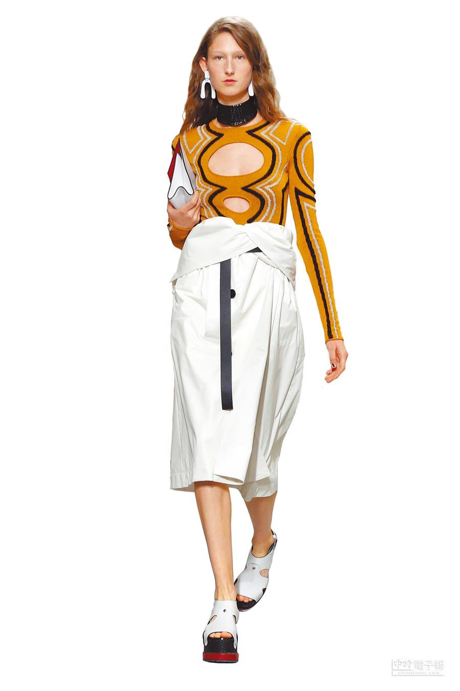 Proenza Schouler為巴黎秋冬高級訂製周日程表上的新客,圖為春夏服裝。(美聯社)