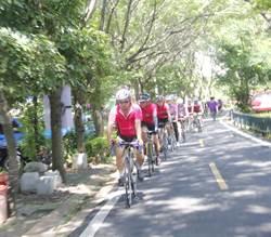 12團體傳遞聖火 接棒騎完東豐自行車綠廊