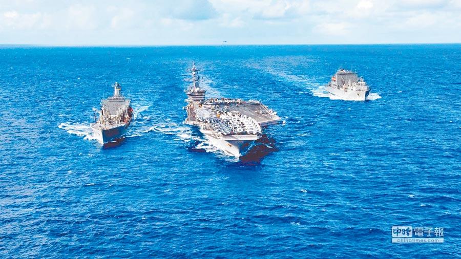 美國卡爾文森號航母第一打擊群駛入南海。(取自美國海軍官網)