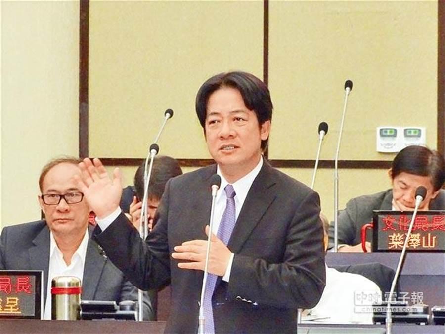 台南市長賴清德近來對兩岸關係發表不少看法。(圖/本報系資料)